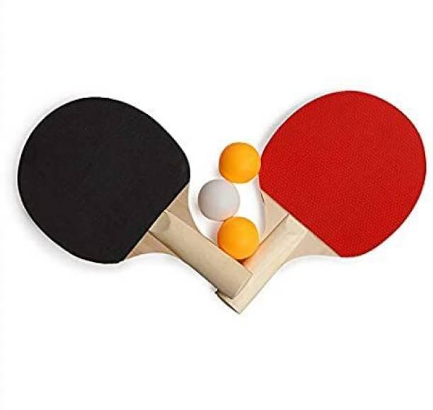 DecoQ Table tennis red black table tennis racquet Black Table Tennis Racquet Black, Red Table Tennis Racquet