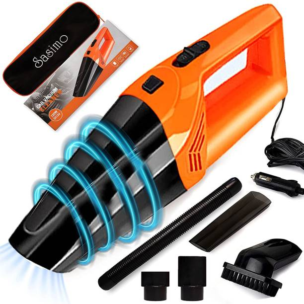 Coroid 12V High Power Wet & Dry Portable Handheld Car Vacuum Cleaner with 4.5M Power Cord Car Vacuum Cleaner Car Vacuum Cleaner with Anti-Bacterial Cleaning, 2 in 1 Mopping and Vacuum, Anti-Bacterial Cleaning, Reusable Dust Bag