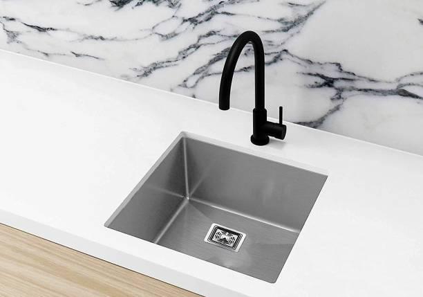 Zesta ( 18 X 16 X 8 ) Imported Garnet 1.2 mm Thickness, Series Hand Made, Chrome Finish Stainless Steel Kitchen Sink Vessel Sink