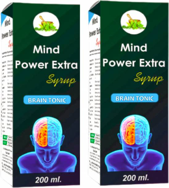 MInd power Extra Brain Tonic Syrup | Rejuvenates your mind | Relieves Stress and Anxiety | Boosts Memory - 400 ml