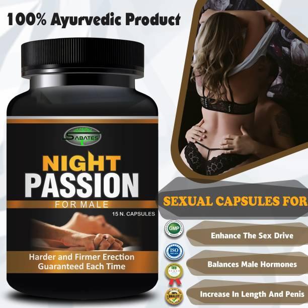 Sabates Night Passion Sexual Capsules Sex Time Badhane Ki Dawa/ Sexual Power Booster Tablets 100% Ayurvedic