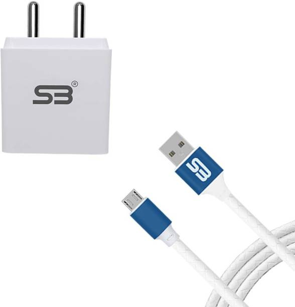 shopbucket 3.0AMP Single USB Port Fast Charger 18W BIS Certified, Auto-detect Technology, (White) with Micro USB 2.4A Charging Cable (Blue) Length 1.2 Meter Long Cable | Tangle Free | Unbreakable | Smooth Pvc Braided | Compatible with Oppo A15S,OPPO A31 2020, OPPO A12, OPPO A5s, OPPO F11 Pro, OPPO A1K, OPPO A11K. 18 W 3 A Mobile Charger with Detachable Cable
