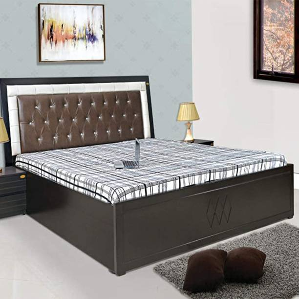 ELTOP Double Bed Furniture with Box Storage Engineered Wood Queen Box Bed