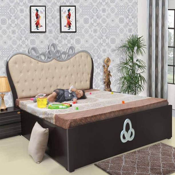 ELTOP Double Bed Furniture With Storage Engineered Wood Queen Hydraulic Bed