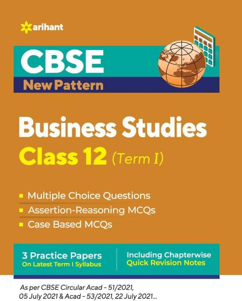 Cbse New Pattern Business Studies Class 12 for 2021-22 Exam (MCQS Based Book for Term 1)
