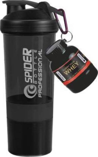 TRUE INDIAN Combo Of Unique Gym Shaker & whey Bottle/Protein Shaker For Gym|Gym Shaker Bottle 500 ml Shaker