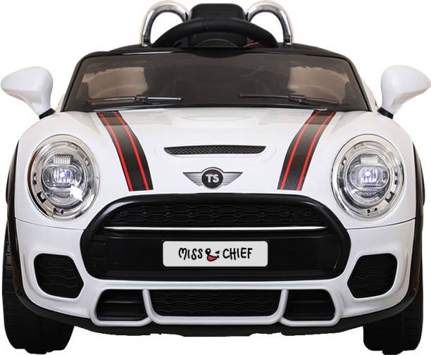 Miss & Chief Cooper 12 V Battery operated rechargeable premium car rideon Car Battery Operated Ride On