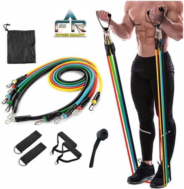 Fitness Reality Pull rope Variable tubes fitness resistance bands combo Resistance Band