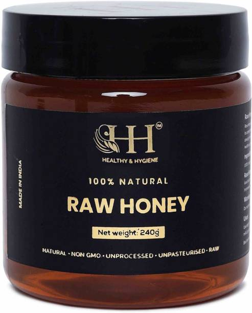 HEALTHY & HYGIENE 100% Natural & Pure Raw Honey Unprocessed, Unfiltered, Unpasteurized (240 gm)
