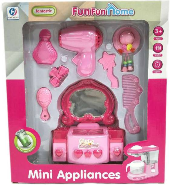 Miss & Chief Fashion Hair Dressing Set with Dryer and Dressing Table Toy for Kids