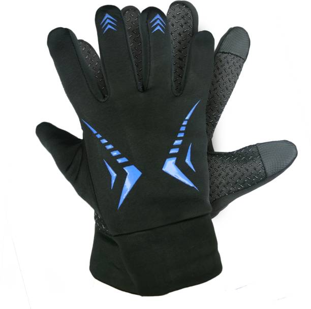 zaysoo Waterproof Winter Outdoor Gloves Athletic Touch Screen Gloves Riding Gloves BLUE Riding Gloves
