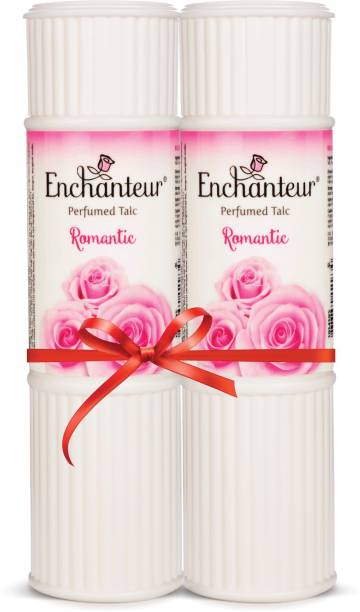 Enchanteur Romantic Perfumed Talc with Roses & Jasmine Extracts