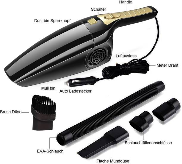 DEESSE 12V High Power Wet & Dry Portable Handheld Car Vacuum Cleaner Car Vacuum Cleaner with Anti-Bacterial Cleaning, 2 in 1 Mopping and Vacuum, Anti-Bacterial Cleaning, Reusable Dust Bag\ Car Vacuum Cleaner with 2 in 1 Mopping and Vacuum (Gold) Car Vacuum Cleaner with 2 in 1 Mopping and Vacuum, Anti-Bacterial Cleaning (Google Assistant and Alexa)