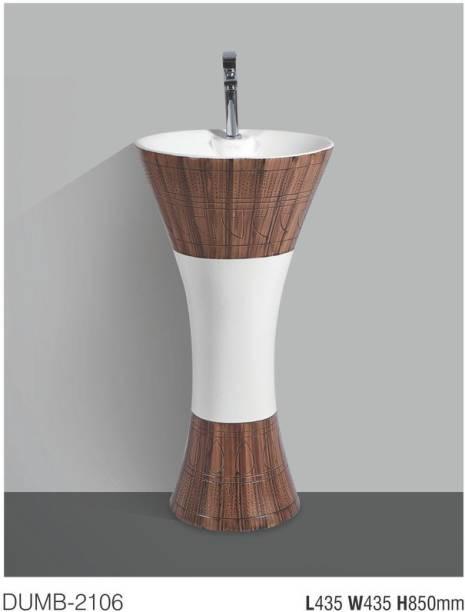 UKEN (DUMB-2106) Made in India Luxury European Style Designing Bathroom Sink/Wash Basin/Damru/Table Top At Very Reasonable Price DUMB-2106 Vessel Sink