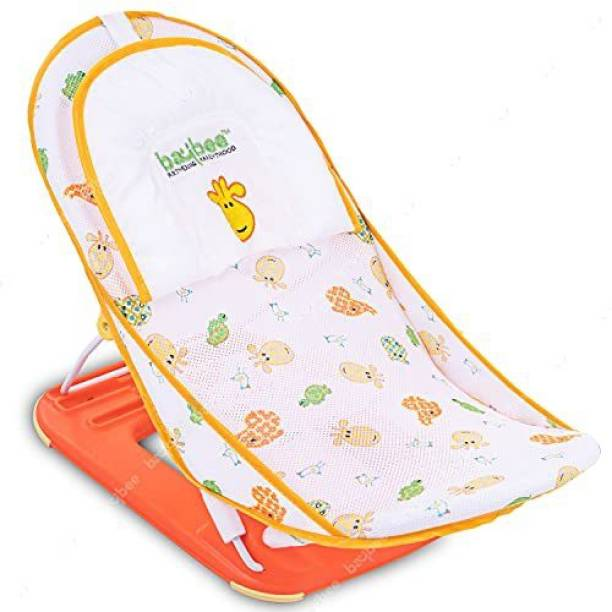 baybee Baby Bather for New Born Baby Bath Training Support Seat Bath Sling Soft mesh Support for Comfortable Bath Compact & Foldable with 3 Position Recline for Baby boy, Girl 0-6 Months Baby Bath Seat