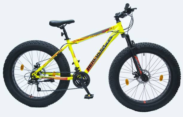HERCULES TOP GEAR-S26 F1 WITH SHIMANO GEAR 26 T Fat Tyre Cycle