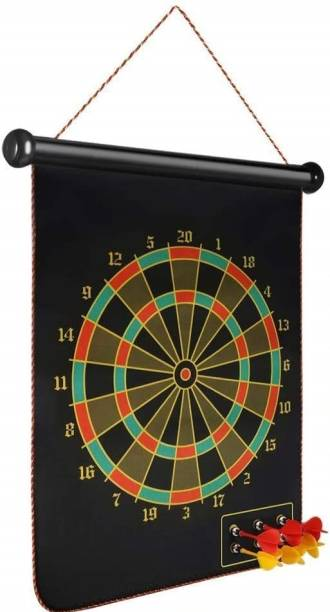 luzzo 12 Inches Double-Sided Magnetic Dart Board Game with 4 Magnetic Darts Soft Tip Dart