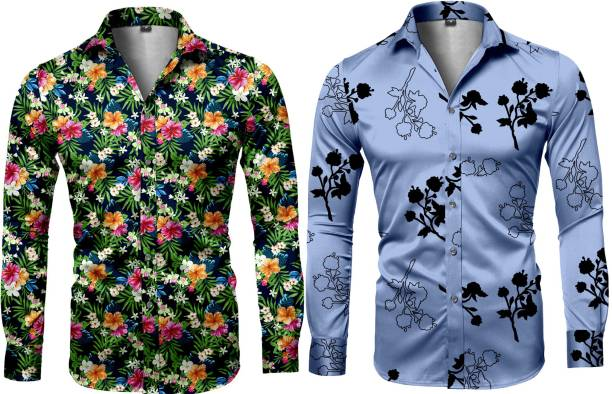 Clothina Cotton Polyester Blend Printed Shirt Fabric