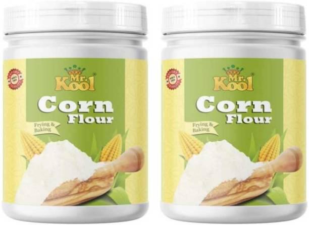 Mr.Kool Natural Corn Flour Makki Atta 400g jarX2(800G)