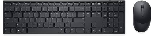 DELL KM5221W Pro 2.4GHz with 12 Programmable Keys and 3 Button Optical Mouse Comb Wireless Multi-device Keyboard
