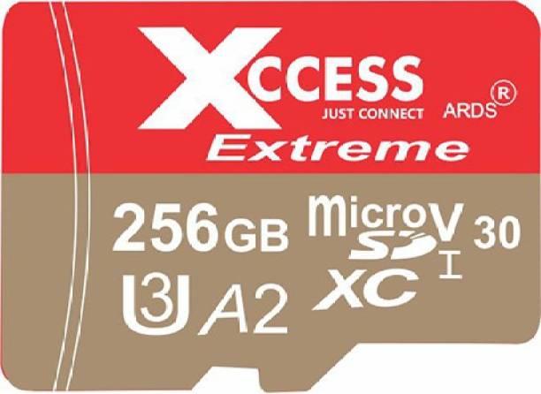 XCCESS 256GB 256 GB MicroSD Card Class 10 120 MB/s  Memory Card