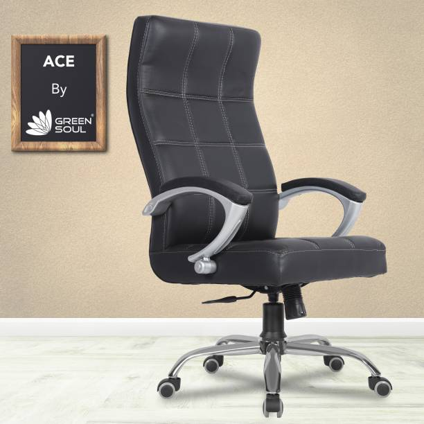 GREEN SOUL Ace High Back Leatherette Office Executive Chair