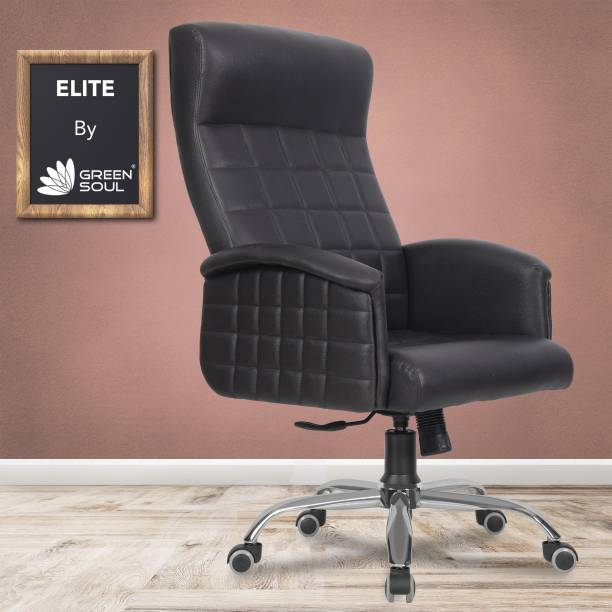 GREEN SOUL Elite High Back Leatherette Office Executive Chair