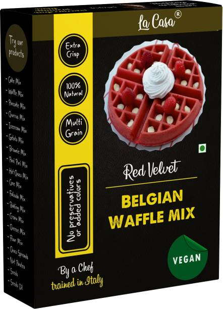 La Casa Red Velvet Belgian Waffle Multigrain Premix 400 g