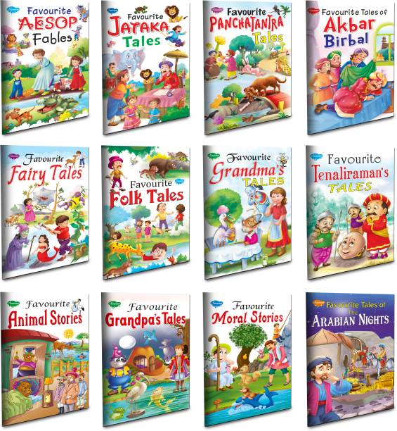 Children Story Books All In One Combo | Set Of 12 Story Books For Kids -English Moral Story Favourite Collection