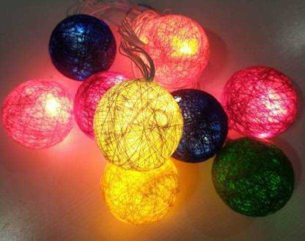 azmon 130 inch Multicolor Rice Lights (Pack of 1) Candle