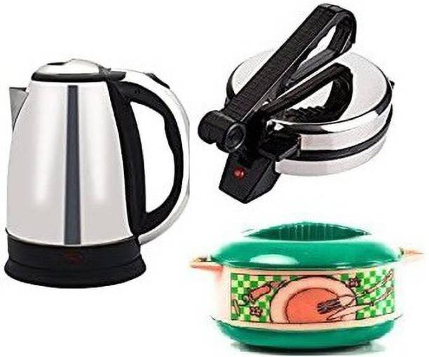 OTC Combo OF Roti Maker with Electric Kettle & Casserole Combo Pack Roti and Khakra Maker