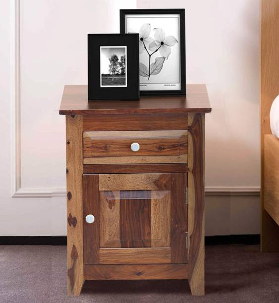 Flipkart Perfect Homes Sandra Solid Wood Bedside Table