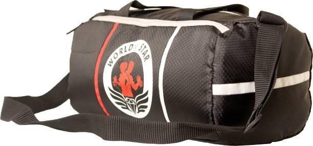 Worldstar Duffel Gym Bag Sports Gym Bags Men & Women ( BLACK 117 )