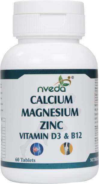 Nveda Calcium 1000mg with Vitamin D3, Magnesium, Zinc & Vitamin B12 For Bone Health