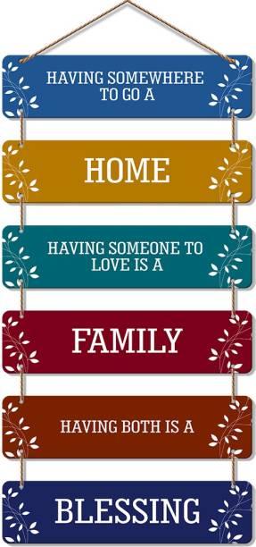 Artvibes Premium Quality MDF Wooden Designer Hall Hanger for Home Decor|Office|Gift (WH_3206N, Set of 6), Multicolour
