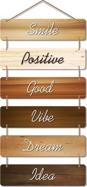 Artvibes Premium Quality MDF Wooden Designer Hall Hanger for Home Decor|Office|Gift (WH_3204N, Set of 6), Multicolour