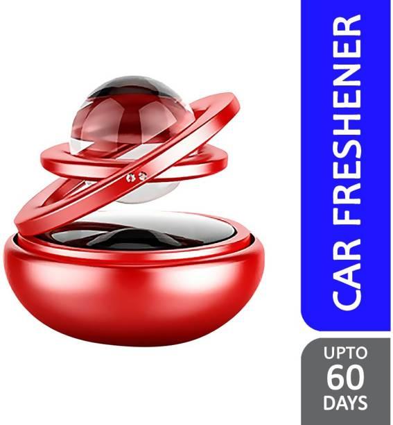 Selifaur Double Red Ring Solar Energy Car Air Freshener Orange 150ml Diffuser