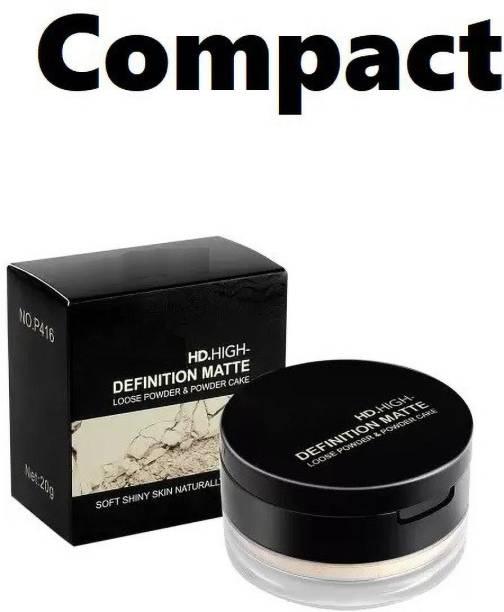 GULGLOW99 HD Matte Loose Powder and Powder cake Compac Compact