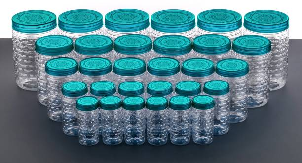 Nexium 30Pcs BEST BUY Plastic Kitchen Containers Storage Container Combo Set Canister Dibba Boxes  - 250 ml, 300 ml, 650 ml, 1200 ml, 2000 ml Plastic Grocery Container
