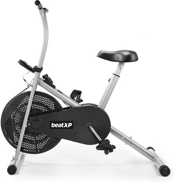 Pristyn care Air Bike with Fix Arms for Cardio Weight Loss Gym Workout -Exercise Cycle Upright Stationary Exercise Bike