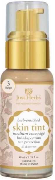 Just Herbs Skin Tint- 3 - Beige Foundation