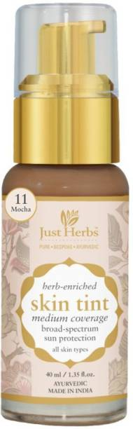 Just Herbs Herb Enriched Skin Tint Natural & Ayurvedic BB Cream &Foundation With Sun Protection (Mocha) Foundation