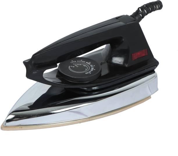 Everyday 600 WATT Light Wieght Automatic Electronic Iron PVC + Metal Body (Black) 250 W Dry Iron