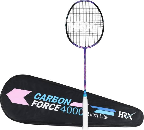 HRX Carbon Force 4000 Ultra Light Multicolor Strung Badminton Racquet
