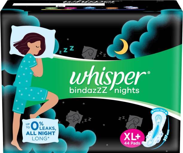 Whisper Bindazzz Nights XL+ Sanitary Pad