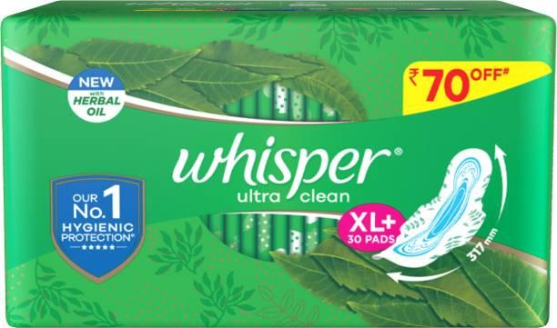 Whisper Ultra Clean XL+ Sanitary Pad