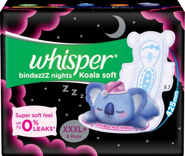 Whisper Bindazzz Nights Koala Soft XXXL+ Sanitary Pad