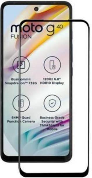 EASYKARTZ Edge To Edge Tempered Glass for Motorola G40 Fusion