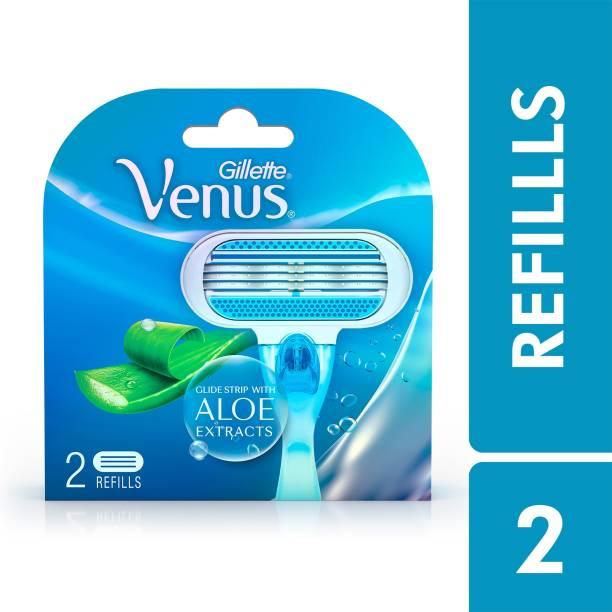 GILLETTE Venus Hair Removal Razor with Aloe Vera Cartridges