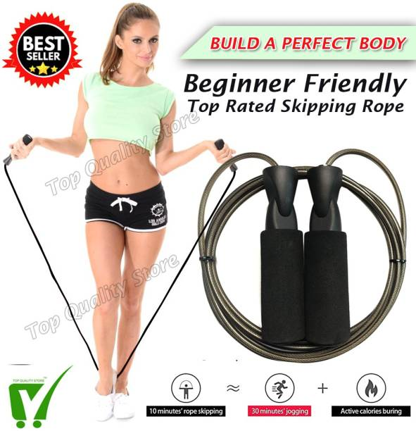 Top Quality Store Skipping Rope for Gym Workout, Crossfit, Fitness Exercise Freestyle Skipping Rope Ball Bearing Skipping Rope